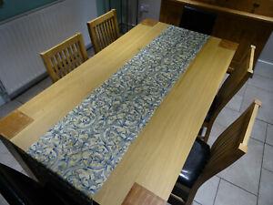 New Gold & Blue Christmas Table Runner 220cm x 44 cm