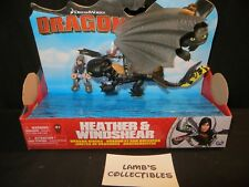 Dreamworks Dragons How to train your Dragon error rare Heather with toothless