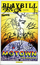 MOTOWN THE MUSICAL signed autographed CAST playbill