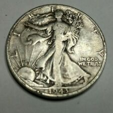 1943-D Walking Liberty 90% Silver US Half Dollar - LOT007