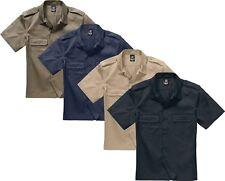 BRANDIT US Hemd Kurzarm Forst Safarihemd Arbeitshemd Militär BW bis 7XL 4101