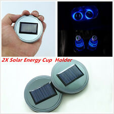 2Pcs Solar Energy Water Cup Holder Bottom Pad LED Light Cover Trim Universal New