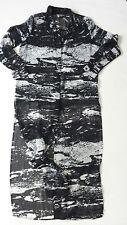 Women's H&M georgette summer shirt dress black-grey color size UK 10 BNWOT