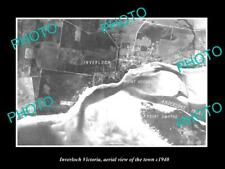 OLD LARGE HISTORIC PHOTO OF INVERLOCH VIC AUSTRALIA, AERIAL VIEW OF TOWN c1940