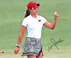 Maria Fassi LPGA star signed autographed 8x10 golf photo coa Mexico Arkansas