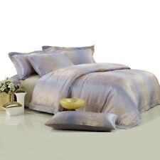DM449Q Queen Duvet Cover Set - Percale Jacquard Luxury Bedding by Dolce Mela