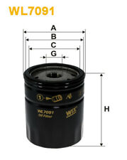 Wix WL7091 Car Oil Filter - Spin-On Replaces W71316 PH4558 AW226