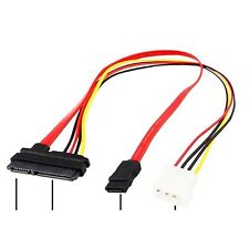 SATA Combo 15Pin Power and 7 Pin Data Cable 4 Pin Molex to Serial ATA Lead x