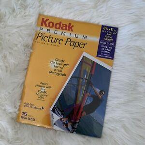 Kodak Premium Picture Paper 8.5 x 11 Heavy Weight High Gloss 15 Sheets Inkjet