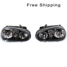 Clear Head Lamp Without Fog Light Set of 2 LH & RH Side Fits Volkswagen Golf