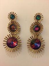 New Elizabeth Cole Tiznit Fireworks Drop Dangle Earrings Sold Out