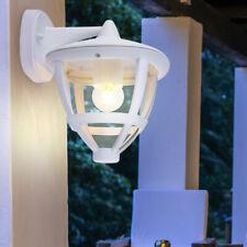 Außen Bereich Wand Lampe ALU Grundstück Beleuchtung Garten Leuchte Laterne weiß