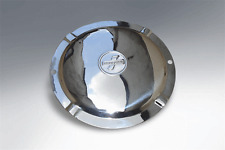 LAMBRETTA SPARE WHEEL COVER INFILL STAINLESS STEEL 2 HOLE