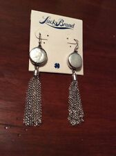 $35 Lucky Brand Silver Tone Freshwater Pearl Chandelier Drop Earrings #296