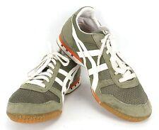 Mens 9.5m Womens 11m Onitsuka Asics Tiger Running Shoes Olive Orange