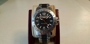 Authentic Raymond Weil Nabucco GMT, 3800, black dial, automatic men's watch