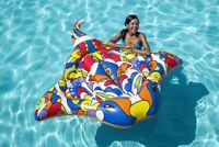 "H2OGO Pop Stingray Inflatable Island Large Pool Float 70"" Swimming Floaty Lounge"