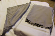 Free Shipping! Queen Bed Skirt & Two Shams - Grey - New w/o tags