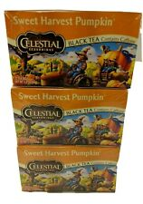 Sweet Harvest Pumpkin Black Holiday Tea, Celestial Seasonings, 3pk Gluten Free