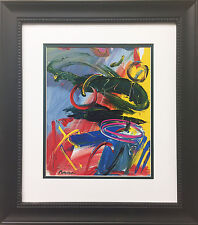 "Peter Max ""Abstract"" 2002 Newly CUSTOM FRAMED Print Art POP psychedelic NEO Deco"