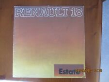 Renault 18 Estate 1979-80 UK Market Sales Brochure TS TL