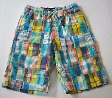 Boys GAP Kids Sz XL -12 Madras Plaid Patchwork Swim Shorts Trunks