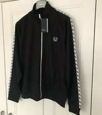 Fred Perry Mens Taped Track Jacket Size XXL Pit To Pit 26 Inches