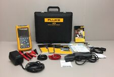 FLUKE 43 Power Quality Analyzer Meter, Fluke 80i-500s, Case, & Accessories