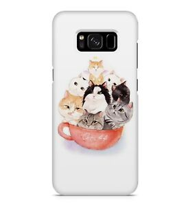 Cute Cat Kittens Basket Cartoon Happy Animal Family Household Phone Case Cover