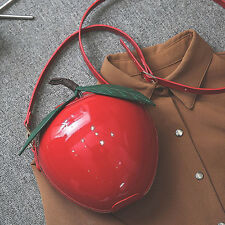 Apple Design Shoulder Bag Gril Cute Party Clutch Purses Handbag Adjustable