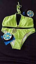 RAISINS  maillot de bain 2 pièces triangle vert anis taille 3