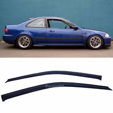 Fit 92-95 Honda Civic 2 or3 Dr Dark Smoke Sun rain Window Visor Vents 2pcs