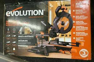 EVOLUTION 2000W 240V 255mm Sliding Mitre Saw (R255SMS) - BRAND NEW IN BOX