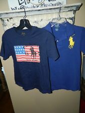 Ralph Lauren Polo Flag New York Boys Shirts  - Size L (14-16) and M -  Lot of 2
