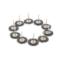 "1"" Nylon Polishing Brush Abrasive Wheel for Rotary Cleaning Tool 1/8"" Shank 10Pc"
