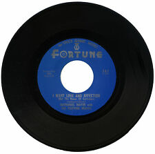 "NATHANIEL MAYER with THE FORTUNE BRAVES  ""I WANT LOVE AND AFFECTION"""