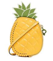 Tory Burch Pineapple Coin Pouch Purse Key Fob Bag Charm ~NWT $118~