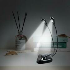 Table Desk Led Light Lamp Portable USB Rechargeable Bed Reading Travel Clip