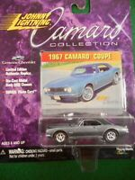 JOHNNY LIGHTING 1967 CHEVY CAMARO COUPE  - 1:64TH SCALE  DIE-CAST  GRAY