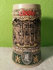 VTG 1990 EDITION COORS BREWING CO. CERAMIC BEER STEIN MUG 1935 COORS ORIGINAL AD