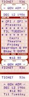 TIL TUESDAY 1986 TOUR CAPRI THEATRE UNUSED CONCERT TICKET-AIMEE MANN-NM TO MINT