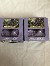 Yankee Candle 2 Boxes Of 12 Tea Light Lilac Blossoms Candles New