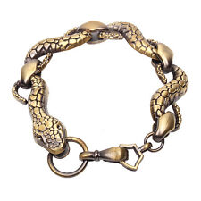 Antique Bronze Animal Snake Chain Bracelet FREE SHIPPING SL0369