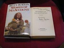 *Signed* BETTY BURTON 'Women of No Account' HB 1st VGC (Jude / Jaen)