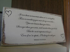 Shabby Chic Winnie The Pooh Quote Sign. Wedding Gift Plaque. 100% Solid Wood. #2