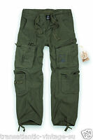 MILITARY SURPLUS MENS COMBAT TROUSERS ARMY CARGO WORK PANTS PURE VINTAGE OLIVE
