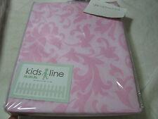 New Kids Line Baroque Damask Fabric Shower Curtain - 71x71 Pink, Lite Brown NIP