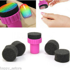 Manicure Sponge Nail Art Stamper Tools with 5PCS Sponge Nail for Gradient Color