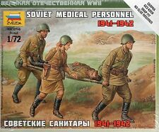Zvezda 1/72 Figures Soviet Medical Personnel 1941-1942 Z6152