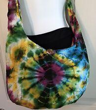 US SELLER Cotton Tie-Dye Small Hobo Sling Festival Bag HB5